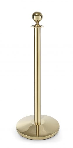 Barrier post gold finish